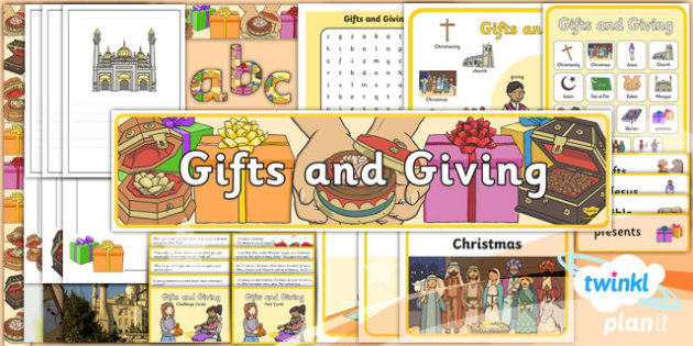 PlanIt - RE Year 1 - Gifts and Giving Additional Resources - planit, re, religious education, gifts and giving, additional resources