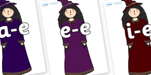 Modifying E Letters on Witch - Modifying E, letters, modify, Phase 5, Phase five, alternative spellings for phonemes, DfES letters and Sounds