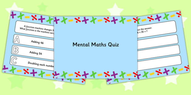 Mental Maths PowerPoint Quiz - mental maths, powerpoint, quiz