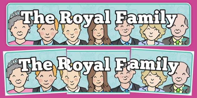 The Royal Family Display Banner - royal family, display banner, display, banner