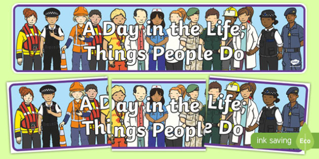 A Day in the Life Display Banner - a day in the life, display banner, display, banner