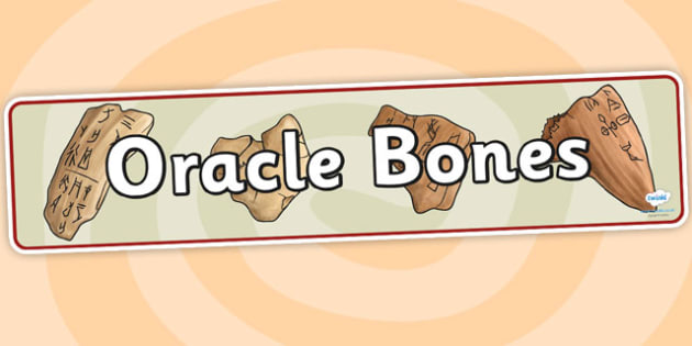 Oracle Bones Display Banner - oracle bones, history, display