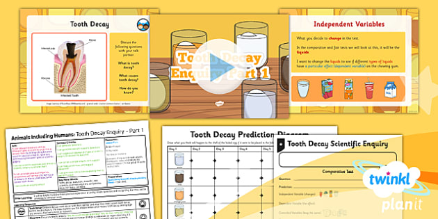 PlanIt - Science Year 4 - Animals Including Humans Lesson 4: Tooth Decay Enquiry Part 1 Lesson Pack