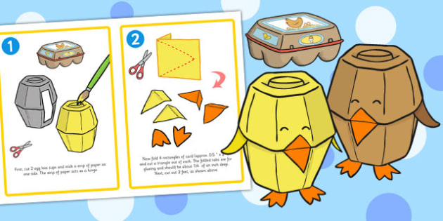 Easter Egg Box Chick Craft Instructions - easter, crafts, chick