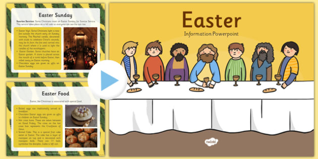 Easter Information PowerPoint - easter, info, religion, RE, ppt