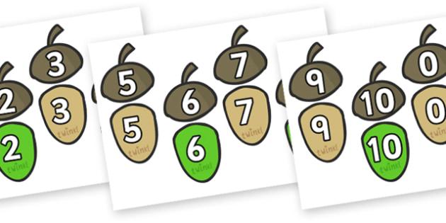 Acorn Addition up to 10 Matching Activity - acorn, addition, addition up to ten, matching activity, matching, 0-10, themed matching activity, activities