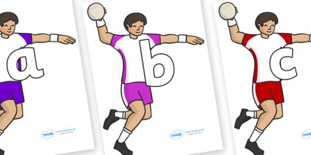 Phoneme Set on Handball - Phoneme set, phonemes, phoneme, Letters and Sounds, DfES, display, Phase 1, Phase 2, Phase 3, Phase 5, Foundation, Literacy