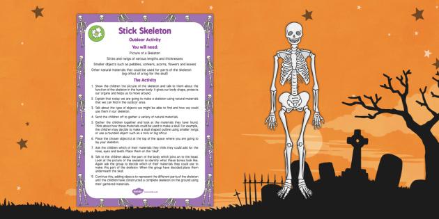 Stick Skeleton Outdoor Activity