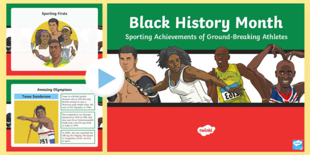 Black History Month Sporting Achievements PowerPoint