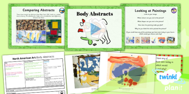 PlanIt - Art UKS2 - North American Art Lesson 3: Body Abstracts Lesson Pack