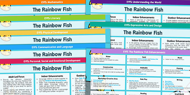 EYFS Lesson Plan and Enhancement Ideas to Support Teaching on The Rainbow Fish - rainbow fish, EYFS, psed early years