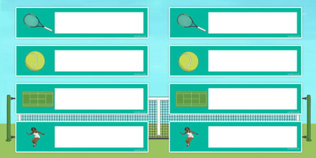 Wimbledon Themed Gratnells Tray Labels - sports, tennis, signs
