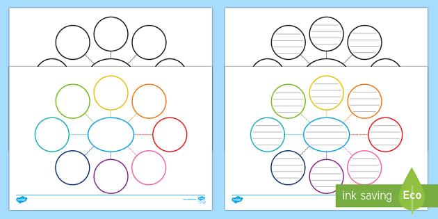 Spider Diagram Organiser Template - spider diagram, organiser, spider diagram template, templates, blank templates, spider disgram organiser, organisation
