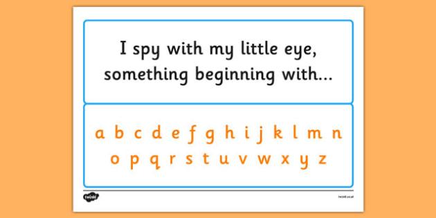 I Spy Alphabet - I spy, game, activity, class, alphabet, letters, phase, sounds, spy