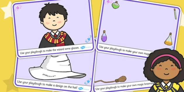 Wizard School Playdough Mats - mat, play, activities, activity