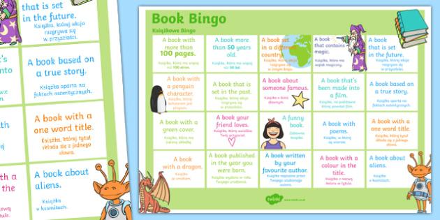 Book Bingo A3 Display Poster Polish Translation - polish, reading, literacy, game, library, ks2, display, classroom, english