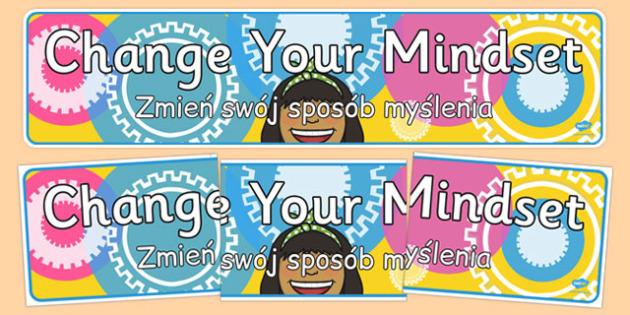 Change Your Mindset Display Banner Polish Translation - polish, change your mindset, display banner, display