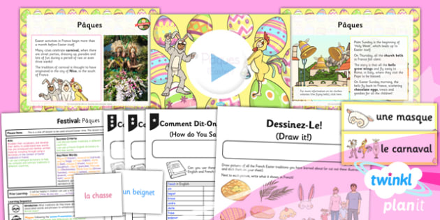 PlanIt French Year 3 Festivals Easter Lesson Pack - festival