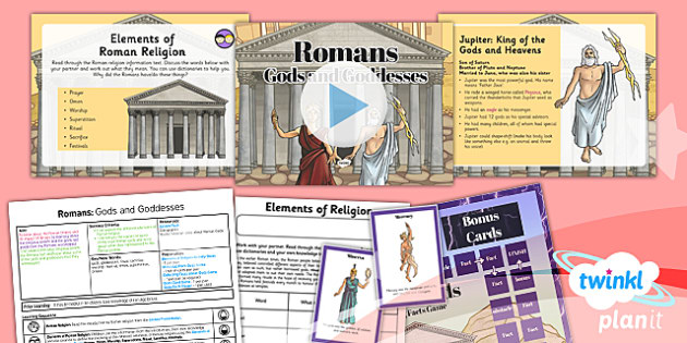 PlanIt - History LKS2 - Romans Lesson 5: Gods and Goddesses Lesson Pack