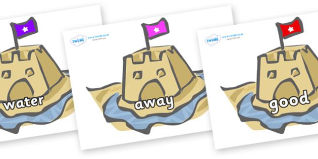 Next 200 Common Words on Sand Castles - Next 200 Common Words on  - DfES Letters and Sounds, Letters and Sounds, Letters and sounds words, Common words, 200 common words