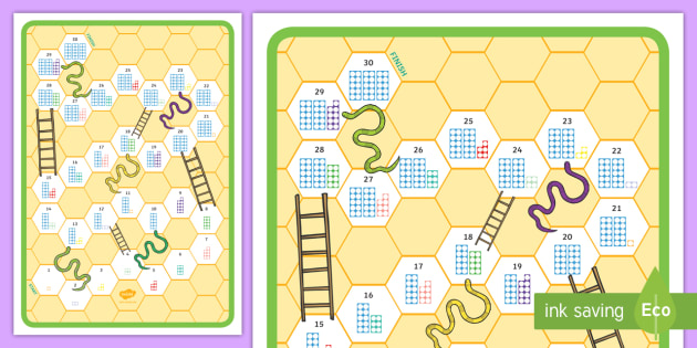 Snakes and Ladders Counting Number Shapes Board Game 1 30 - games, play, Counting, numeral recognition, order, number sequence, snakes and ladders, board game