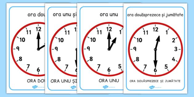 Citim ceasul la ora fixa si la si jumatate- matematica, timp