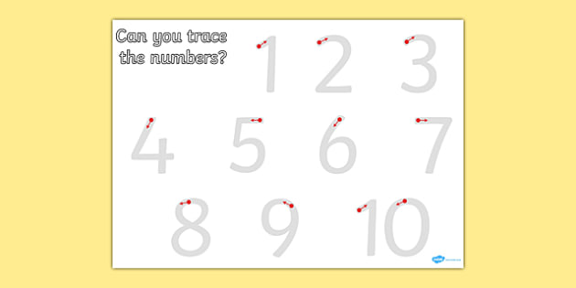 Number Formation 1 10 Worksheet - worksheets, numbers, practice