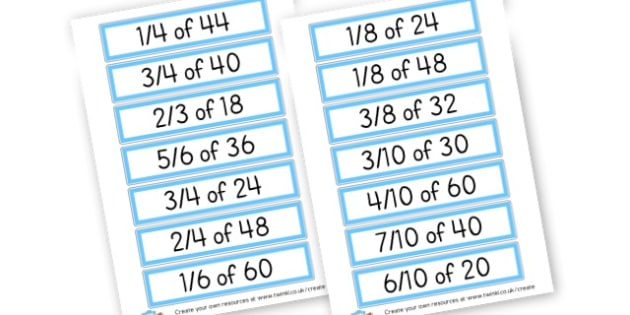 Fractions Challenge Cards - Number_Fractions - New 2014 Curriculum, 2014 Curriculum, Numeracy