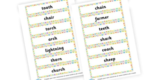 Phase 3 Word Cards - Phase 3 Activities Primary Resources, Phase One, Letters, sounds