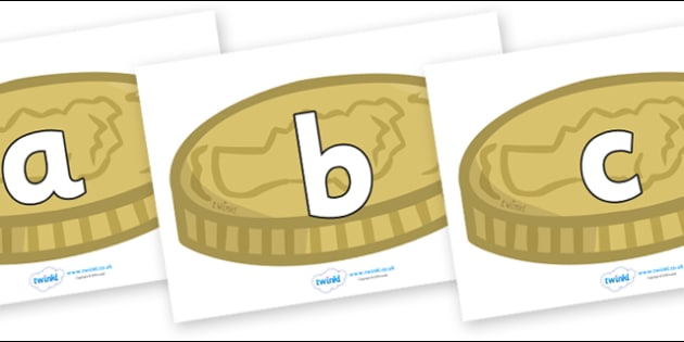 Phoneme Set on Coins - Phoneme set, phonemes, phoneme, Letters and Sounds, DfES, display, Phase 1, Phase 2, Phase 3, Phase 5, Foundation, Literacy
