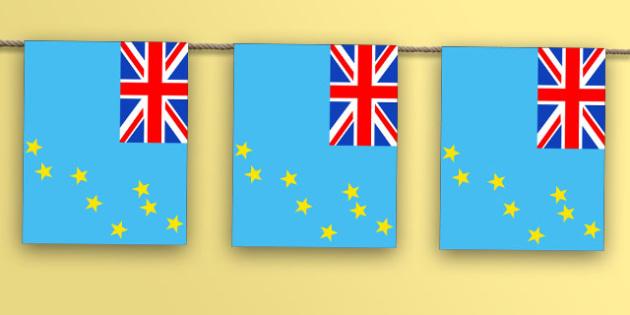 Tuvalu Flag Bunting - nation, international, geography, culture, display, oceana, australiasia, olympics