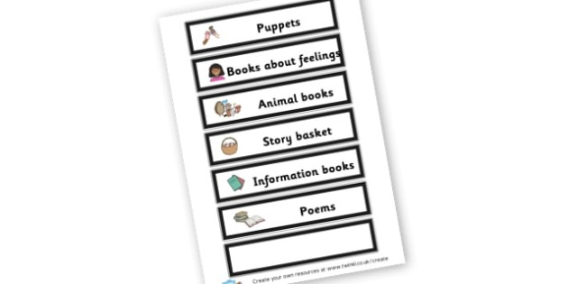 Reading area - Reading Area Primary Resources, signs, area, zones, banner, poster
