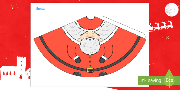 Father Christmas Cone Character - Christmas, crafts, 3d models, craft activities, christmas ks2