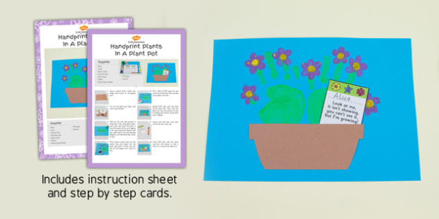 Handprint Plants in Plant Pot Craft Instructions - plants, craft