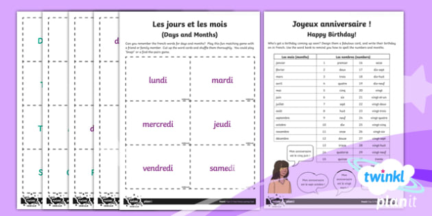 PlanIt - Year 3 French - Time Home Learning Tasks