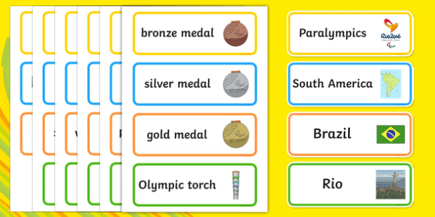 Rio Paralympics 2016 SEN Picture Word Cards