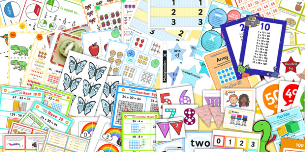 KS1 Maths Number Display Pack Year 2 - ks1, maths, number, display