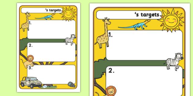 Themed Target Sheets Safari - Target Sheets, Themed Target Sheets, Safari Target Sheets, Safari Themed, Safari Themed Target Sheets