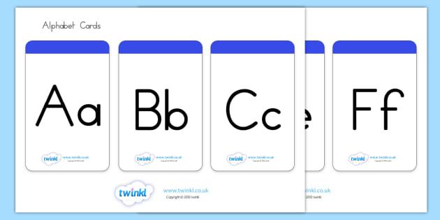 Alphabet Cards - alphabet, a-z, cards, flashcards, visual aid