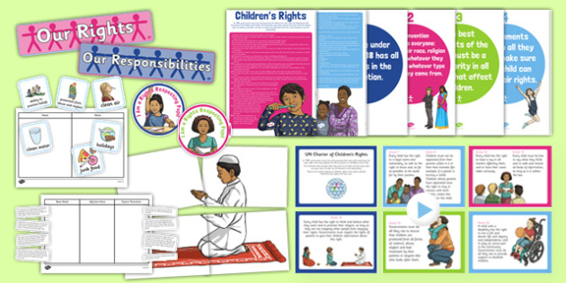 Rights Respecting Schools Resource Pack - CfE, Health and Wellbeing, PSHE, Rights Respecting Schools, UN Charter Rights of the Child, Children's Rights, Responsibilities