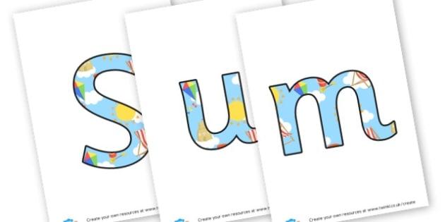 Summer - Display Lettering - Summer Display  Primary Resources,Primary,Summer,Display,Posters