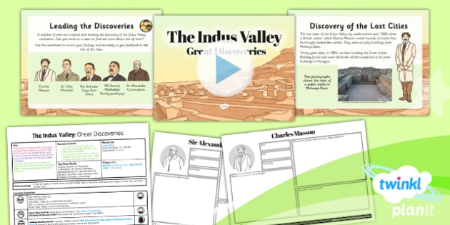 PlanIt History UKS2 Indus Valley Lesson 2 Great Discoveries Pack