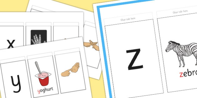 British Sign Language Alphabet Sign And Flip Activity Booklet