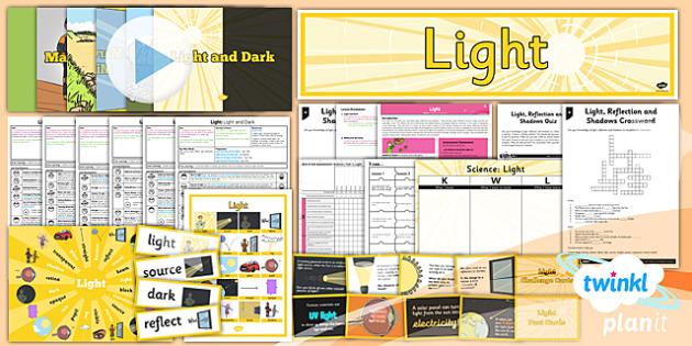 PlanIt - Science Year 3 - Light Unit Pack - planit, science, light, unit, pack