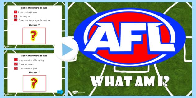 AFL Australian Football League What Am I PowerPoint - sports