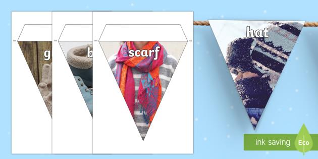 Winter Clothing Photo Display Bunting