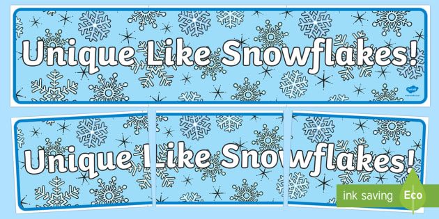 Unique Like Snowflakes Display Banner