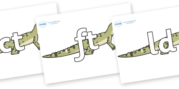 Final Letter Blends on Aligator - Final Letters, final letter, letter blend, letter blends, consonant, consonants, digraph, trigraph, literacy, alphabet, letters, foundation stage literacy