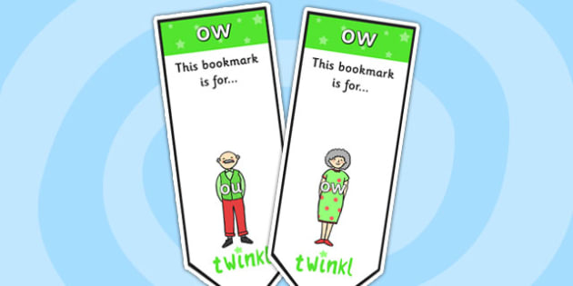ow Sound Family Editable Bookmarks - ow sound family, editable bookmarks, bookmarks, editable, behaviour management, classroom management, rewards, awards