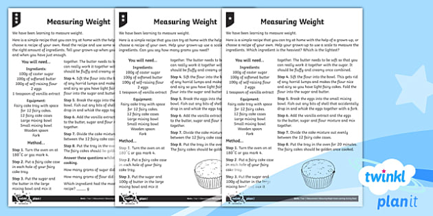 Measuring Weight Home Learning Tasks - Measurement, measuring, home learning, homework, measure and record, weight, non-standard units, sta